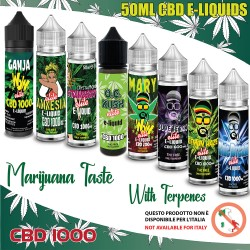 Liquidi 50ml Cannabis Terpeni CBD 1000 - NO ITALIA