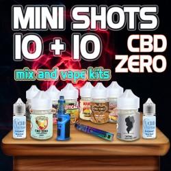 Classic Mini Shots CBD ZERO 10+10