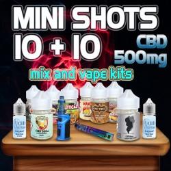 Classic Mini Shots CBD 500mg 10+10