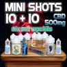 Mini Shots Classici CBD 500mg 10+10
