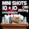 Mini Shots Classici CBD 250mg 10+10