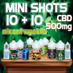 Mini Shots Cannabis CBD 500 10+10