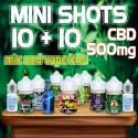 Cannabis Mini Shots CBD 500 10+10