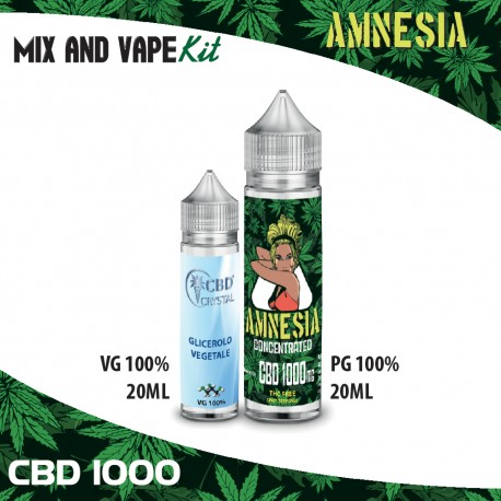 Amnesia CBD 1000 Mix and Vape