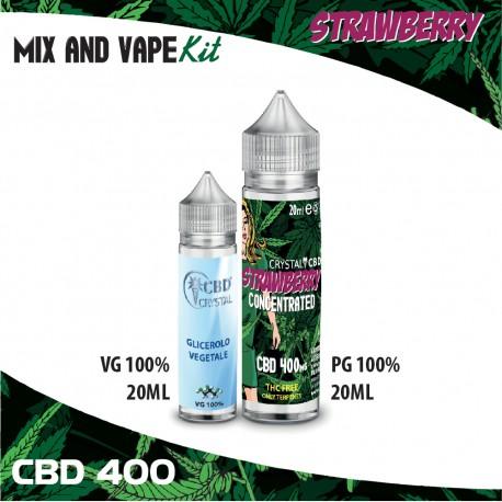 Strawberry CBD 400 Mix and Vape