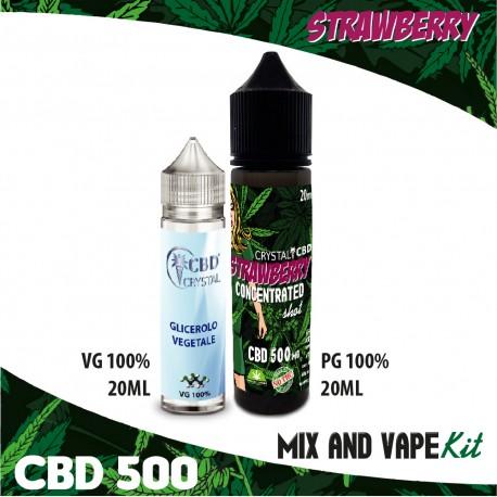 Strawberry CBD 500 Mix and Vape
