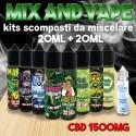 Cannabis Terpeni CBD 1500 Mix and Vape