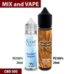 Honey Tobacco CBD 500 Mix and vape