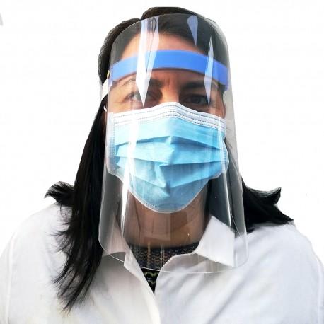 Clear plastic protective visor