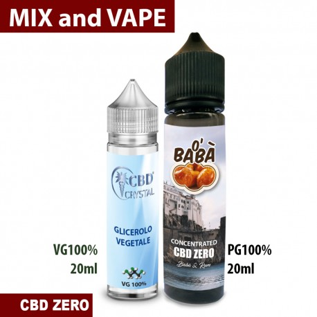 O' Babà CBD ZERO Mix and Vape