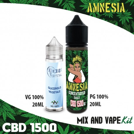 Amnesia CBD 1500 Mix and Vape