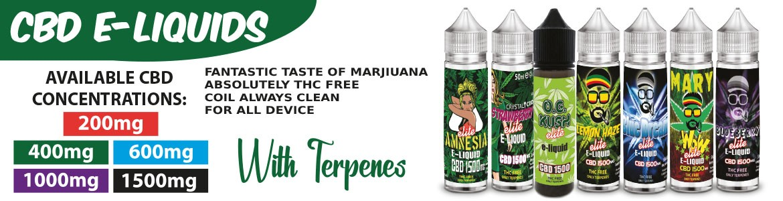 CBD e-liquids with terpenes