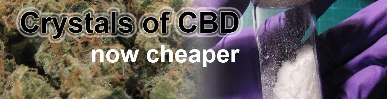Pure crystals of CBD